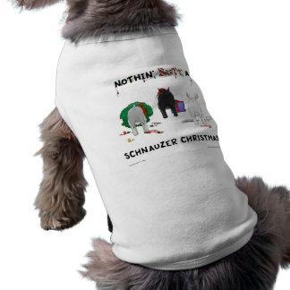 Nada empalma navidad de un Schnauzer Camisa De Mascota