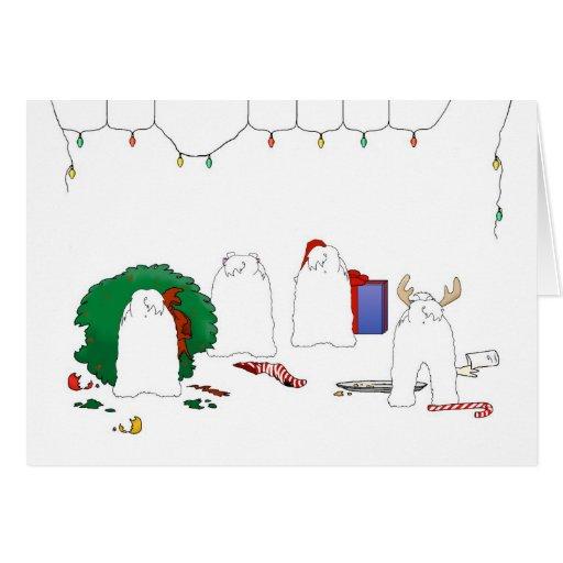 Nada empalma navidad maltés tarjeta de felicitación