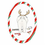 Nada empalma un ornamento del navidad de Bichon Escultura Fotográfica