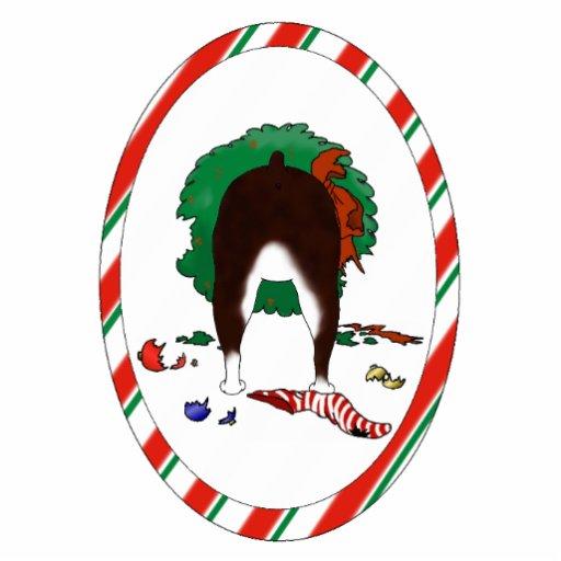 Nada empalma un ornamento del navidad de Boston Te Esculturas Fotograficas