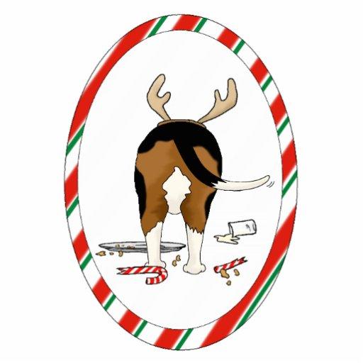 Nada empalma un ornamento del navidad del beagle esculturas fotograficas