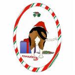 Nada empalma un ornamento del navidad del beagle escultura fotográfica