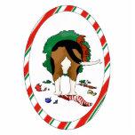 Nada empalma un ornamento del navidad del beagle escultura fotografica