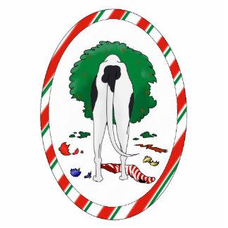 Nada empalma un ornamento del navidad del galgo adorno fotoescultura