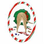 Nada empalma un ornamento del navidad del pitbull esculturas fotograficas
