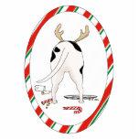 Nada empalma un ornamento del navidad del pitbull escultura fotográfica