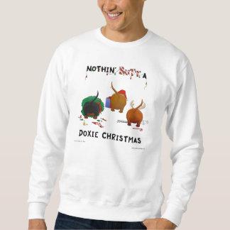 Nada empalma una sudadera del navidad de Doxie