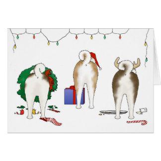 Nada empalma una tarjeta de felicitación del navid