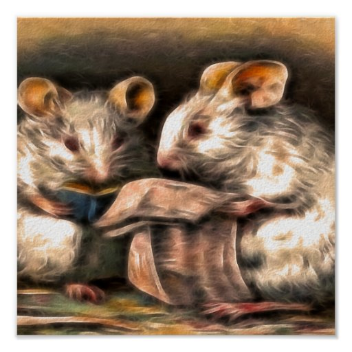 Nada en la lectura de los ratones de la TV esta no Poster