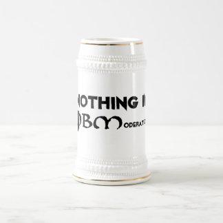 Nada en la moderación jarra de cerveza