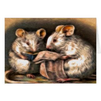 """""""Nada en tarjeta de felicitación de los ratones de"""
