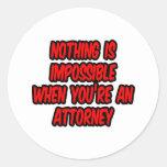 Nada es imposible… abogado etiquetas redondas