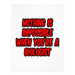 Nada es imposible… biólogo membrete a diseño