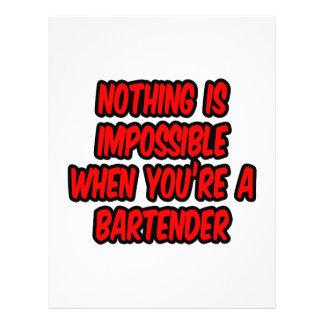Nada es imposible… camarero tarjeta publicitaria
