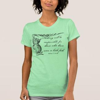 Nada es imposible camiseta de las señoras playera