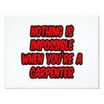 Nada es imposible… carpintero comunicado personalizado