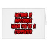 Nada es imposible… carpintero tarjetas