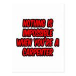 Nada es imposible… carpintero tarjetas postales