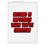 Nada es imposible… cristiano felicitacion