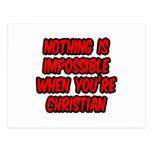 Nada es imposible… cristiano postal
