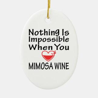 Nada es imposible cuando usted ama el vino del Mim Adorno De Navidad