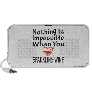Nada es imposible cuando usted ama el vino espumos
