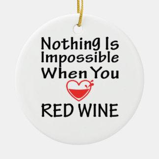 Nada es imposible cuando usted ama el vino rojo ornamento de reyes magos
