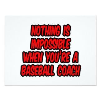 Nada es imposible… entrenador de béisbol comunicados personalizados