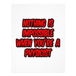 Nada es imposible… físico membrete personalizado
