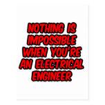 Nada es imposible… ingeniero eléctrico tarjetas postales