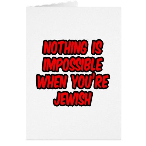 Nada es imposible… judío tarjeta de felicitación