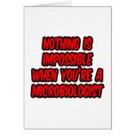 Nada es imposible… microbiólogo felicitacion