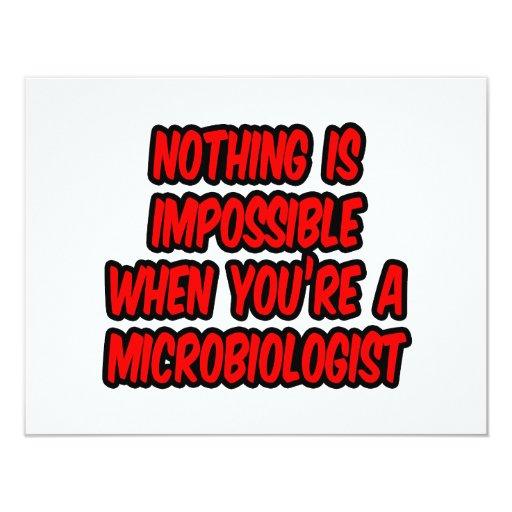 Nada es imposible… microbiólogo invitacion personal