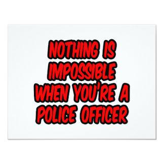 """Nada es imposible… oficial de policía invitación 4.25"""" x 5.5"""""""
