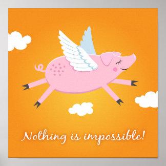 Nada es imposible poster de motivación