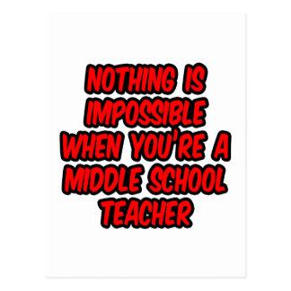 Nada es imposible… profesor de escuela secundaria tarjetas postales