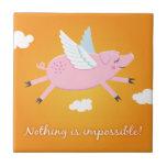 Nada es imposible teja del cerdo/caja de regalo qu