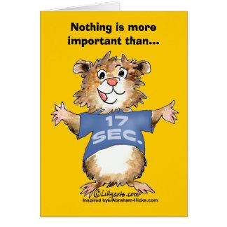 Nada es más importante que tarjeta que se siente b
