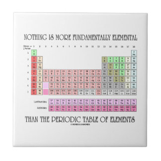 Nada es T periódico más fundamental elemental Azulejos Cerámicos