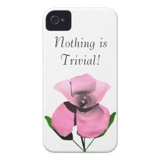Nada es trivial Case-Mate iPhone 4 cobertura