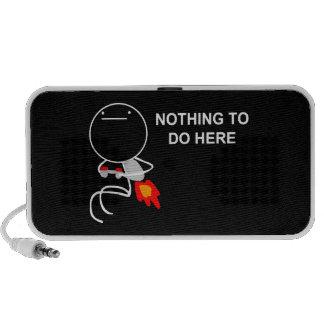 Nada hacer aquí - el altavoz negro portátil