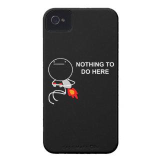 Nada hacer aquí - el caso del negro del iPhone Case-Mate iPhone 4 Fundas