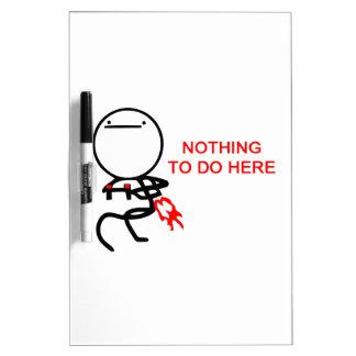 Nada hacer aquí - el meme pizarras blancas de calidad