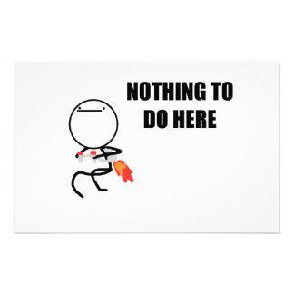 Nada hacer aquí rabia cara Meme Papeleria De Diseño