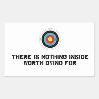 Nada interior digno de la muerte por rectangular altavoz