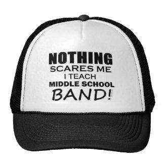 Nada me asusta banda de escuela secundaria gorras