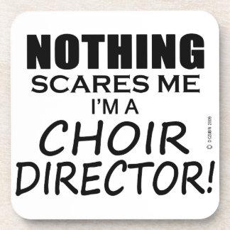 Nada me asusta director del coro posavasos de bebida