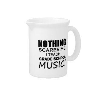 Nada me asusta música de la escuela primaria jarras para bebida