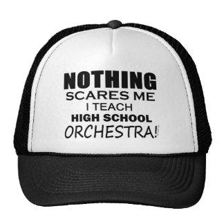 Nada me asusta orquesta de la High School secundar Gorras