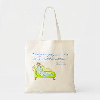 Nada me cansa nunca - Jane Austen Bolsa Tela Barata